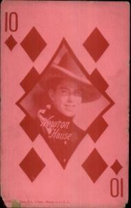 Cowboy Actor Newton House Exhibit Arcade Card Playing Card 10 of Diamonds