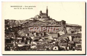 Old Postcard Marseille General View N D of the Guard