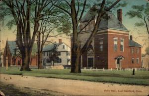 East Hartford CT Wells Hall c1910 Postcard
