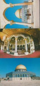Jerusalem Dome Of The Rock 3x Postcard s