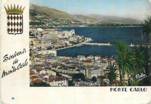 Monaco souvenir Postcard Monte Carlo vu du Jardin Exotique