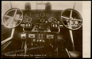 Germany Junkers G31 Cockpit Airplane  RPPC 70934