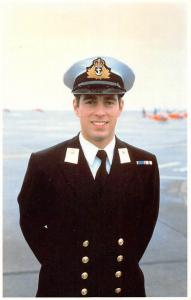 Prince Andrew in Navaluniform During Histraining