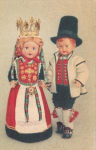 Norway Dolls Wearing Bridal Costumes From Hardanger