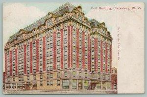 Clarksburg West Virginia~Goff Building~Shops-Window Displays at Bottom~c1910