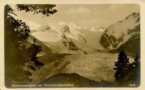 Switzerland - Sonnenuntergang & Morteratschgletscher  *RPPC