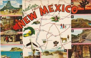 Greetings From New Mexico With Map