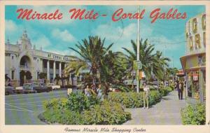 Florida Miami Coral Gables Miracle Mile Shopping Center 1968