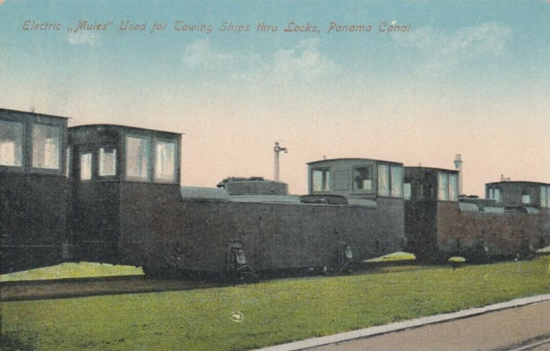 PANAMA CANAL , Rep. of Panama; 10-20s; Electric Mules