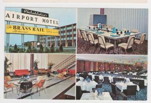 Philadelphia International Airport Motel Rt 291 Brass Rail Multi-View Postcard