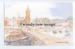 DS249 - Devon - Lympstone Village & Harbour, Artist- David Skipp - Postcard
