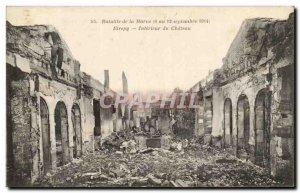 Old Postcard Battle of the Marne Etrepy Interieur du Chateau Militaria