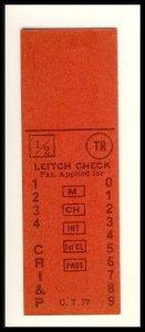 Vintage Chicago Rock Island & Pacific Railroad/RR Ticket,