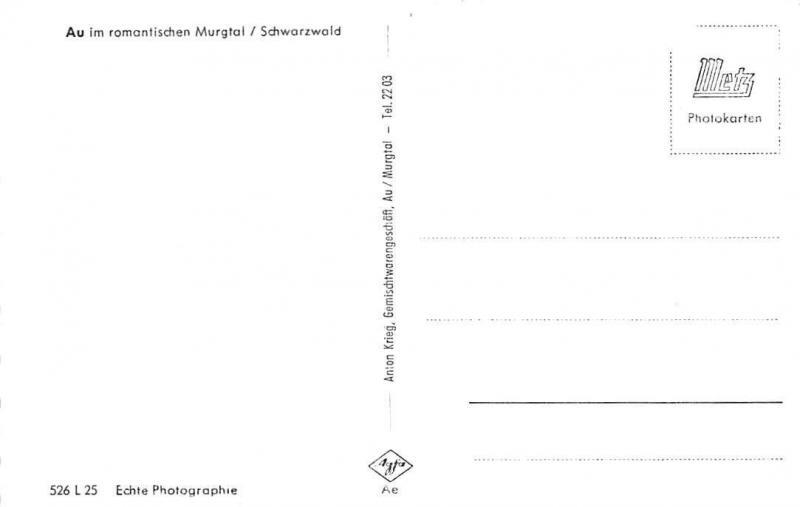 Au im romantischen Murgtal Schwarzwald General view Panorama