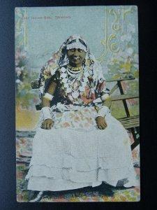 Caribbean Island Trinidad EAST INDIAN GIRL - Old Postcard by Smith Bros & Co.