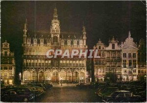 Postcard Modern Brussels Grand Place house of the king