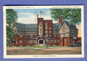 Urbana, Illinois/ILPostcard, Urbana-Loncoln Hotel/State Road