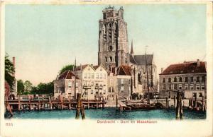 CPA DORDRECHT Dam en Maashaven NETHERLANDS (604885)