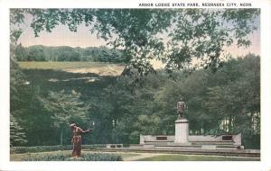 Nebraska City  Nebraska~Arbor Lodge State Park~1920s Postcard