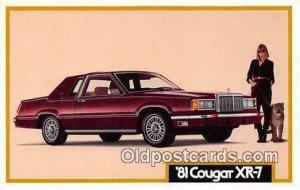 81 Cougar XR7 Auto, Car Unused