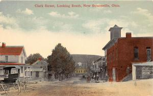 E89/ New Straitsville Ohio Postcard c1910 Clark St South Stores