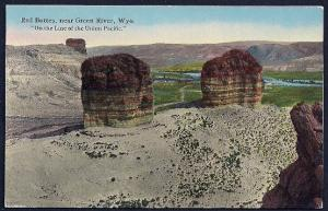 Red Buttes Green River Wyoming unused c1910's