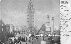 Amusement Park Postcard Post Card Dreamland, Central View Coney Island, New Y...