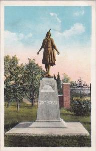 Virginia Jamestown Island Showing Monument Of The Princess Pocahontas
