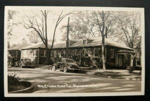 Mint Vintage Plainwell Michigan Wm Crispe Hospital Real Picture Postcard