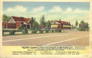 Penn-Daw Hotel, Alexandria, Virginia, VA USA Hotel Postcard Motel Post Card O...