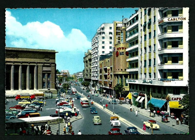 EGYPT VINTAGE POSTCARD--R.PHOTO-CAIRO-26TH JULY STREET