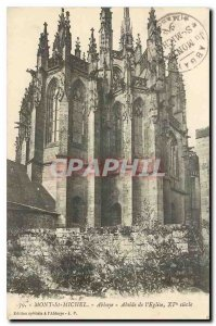 Old Postcard Mont St Michel Abbey Apse of the Church