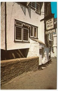 Cornwall; The House On Props, Polperro PPC By NPO Dexter, Unused, c 1960's