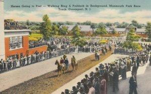 OCEANPORT, NJ, 30-40s;  Monmouth Park Horse Race Track, Horses Going to Post
