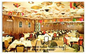Pedro's Sombrero Room, South of the Border, SC Postcard *5F19
