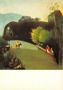 B46759 Painting  Csontvary Kosztka Tivadr Electric lighted trees  postcard