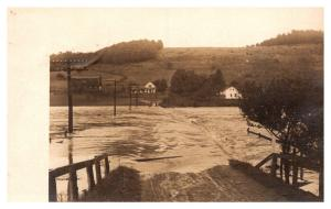 New York Franklinville , Flooded Road , RPC