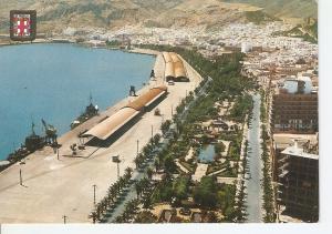 Postal 045111 : Almeria. Vista aerea del Parque y Puerto