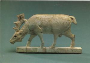 GRAZING DEER, Ivory, Syria: Arslan Tash, 8th century B.C.E. at Tel Aviv Museum