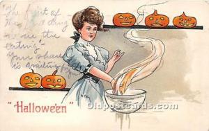 Halloween Postcard Old Vintage Post Card Series 2215 1908