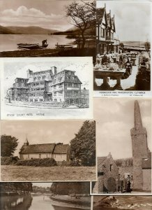 UK London, Oxford and more Postcard Lot of 21 RPPC & Printed 01.04