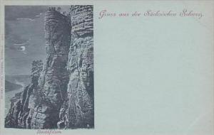 Switzerland Gruss Aus Der Saechsischen Schweiz Basteifelsen