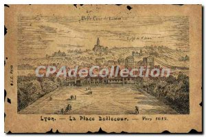 Old Postcard Lyon Place Bellecour Towards 1615