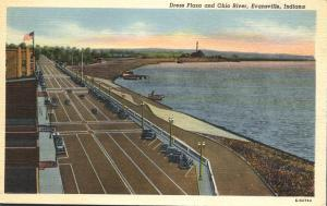 Dress Plaza and Ohio River - Evansville IN, Indiana - Linen