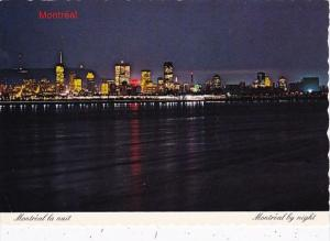 Canada Quebec Montreal Skyline At Night