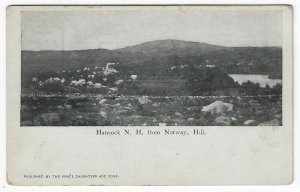 Hancock, New Hampshire, Vintage Postcard Birds-eye View From Norway Hill