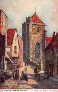 St Clement's Church Hastings Borrow signed Postcard