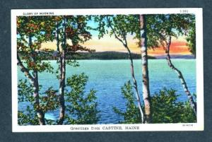 ME Sunset View Greetings From CASTINE MAINE Postcard