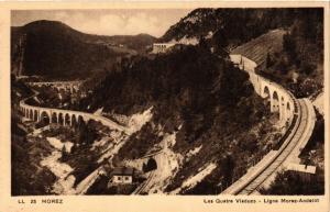 CPA MOREZ Les Quatre Viaducs Ligne MOREZ-Andelot. (247523)