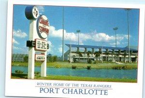 Charlotte Stadium Port Charlotte Florida Royals Vintage 4x6 Postcard B45